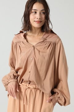 メッシュシャツブラウス