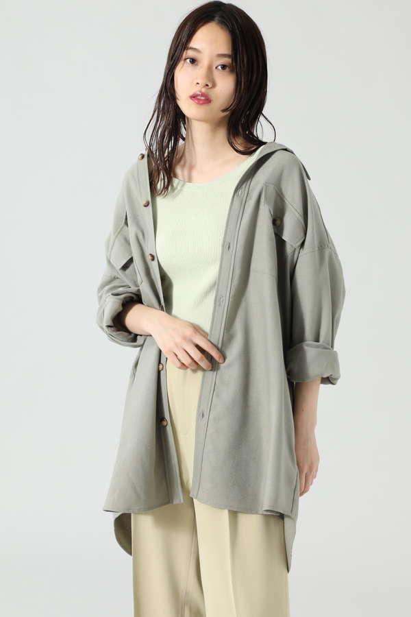 コーデュロイビッグシャツ