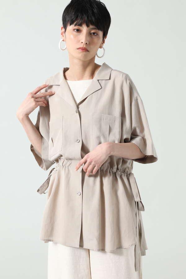 開襟ドロストシャツ