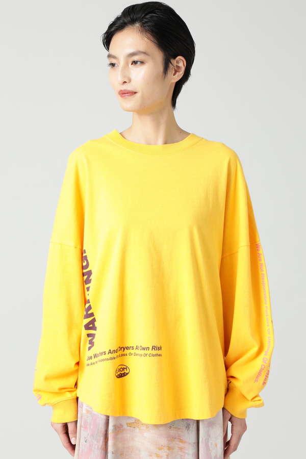 コインランドリーモチーフロングスリーブTシャツ