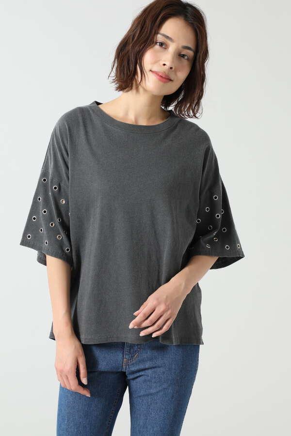 アイレットヴィンテージルックTシャツ