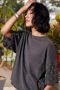 【先行予約 5月上旬-5月中旬入荷予定】アイレットヴィンテージルックTシャツ