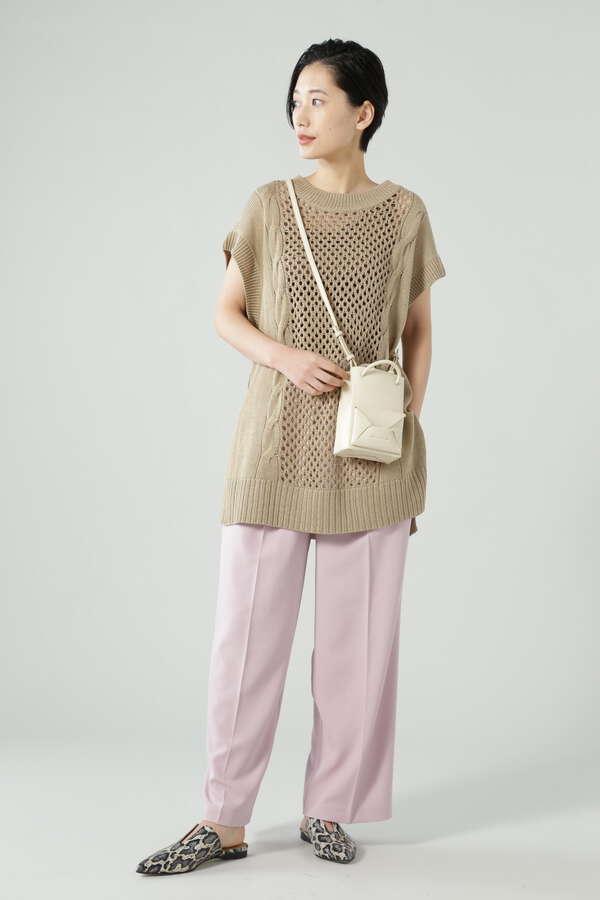 透かし編みニットベスト