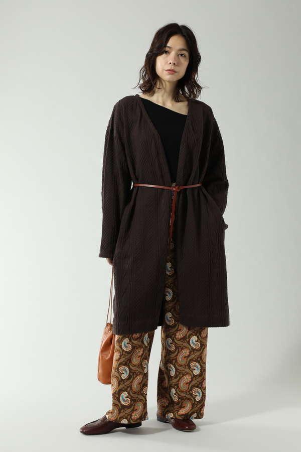 アラン柄カットソーコーディガン