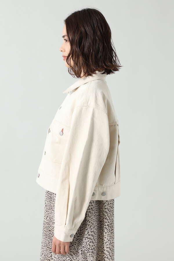 ボリュームタックショートジャケット