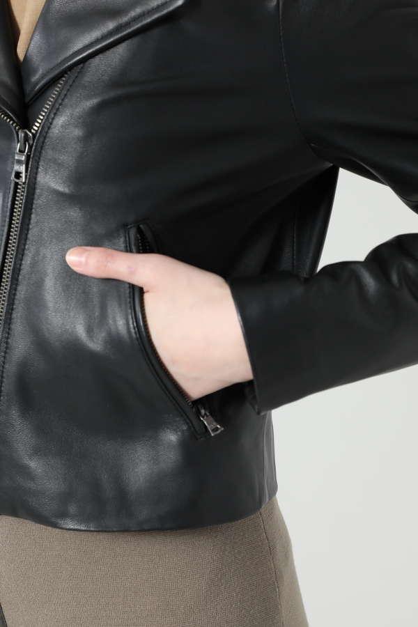 ノーカラーライダースジャケット