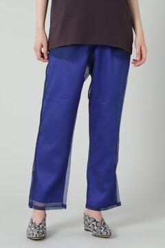 シースルーレイヤードパンツ