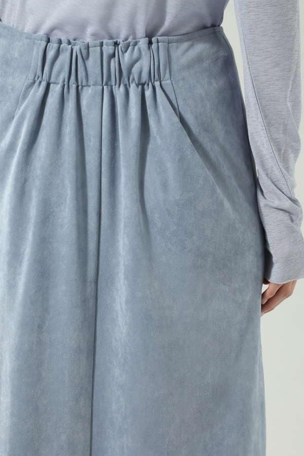 サイドボタンスエードスカート