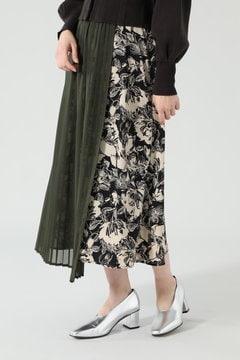 【先行予約 2月上旬-2月中旬入荷予定】異素材フラワープリントスカート