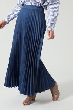 プリーツデニムスカート
