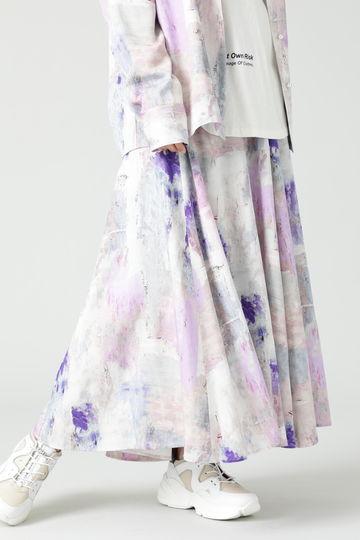 【先行予約 3月中旬-3月下旬入荷予定】ぼかしプリントマキシスカート