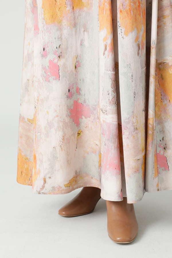 ぼかしプリントマキシスカート