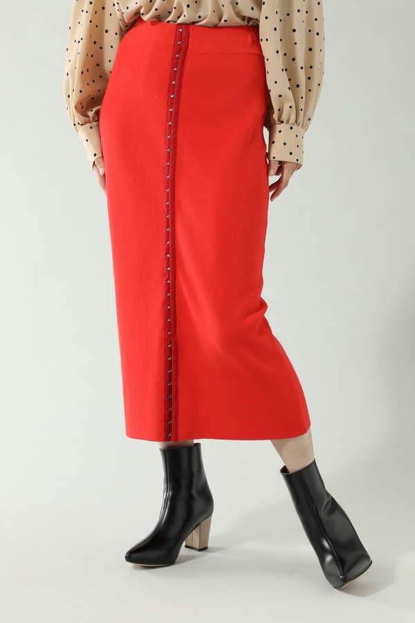 フロントホックニットスカート