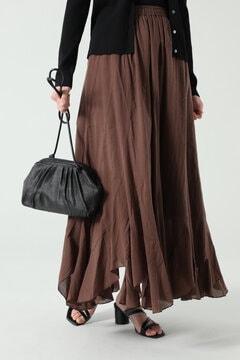 イレギュラーヘムロングスカート
