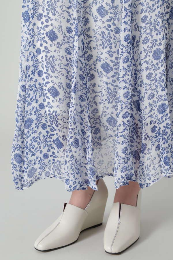 オリエンタルフラワープリントスカート