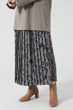 【先行予約 2月下旬-3月上旬入荷予定】レオパードプリーツスカート