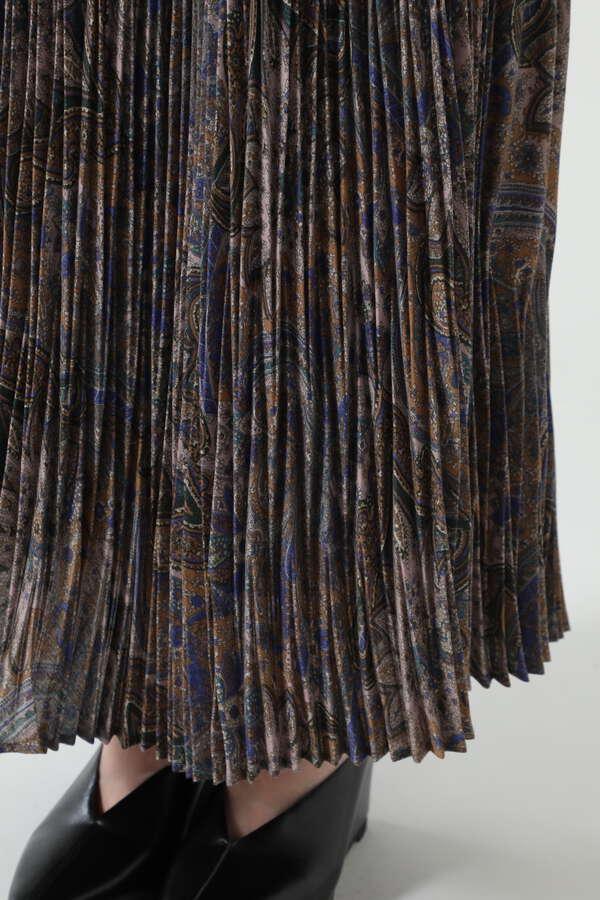 ペイズリープリーツロングスカート