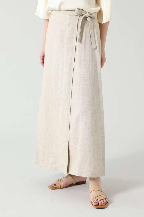 リネン巻きスカート