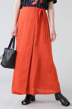 【先行予約 5月下旬-6月上旬入荷予定】リネン巻きスカート
