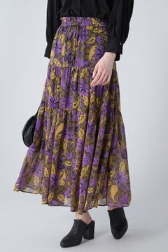 エスニックプリントマキシスカート