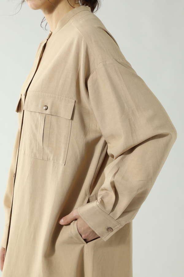 ダブルポケットシャツワンピース