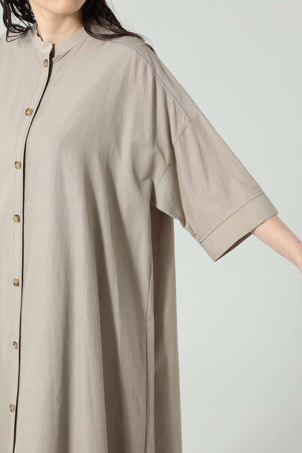 トラぺーズラインシャツワンピース