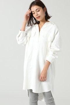 2wayリネンワークポケットシャツドレス