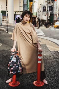 <ROSE BUD別注>サイドスリットカットソーワンピース