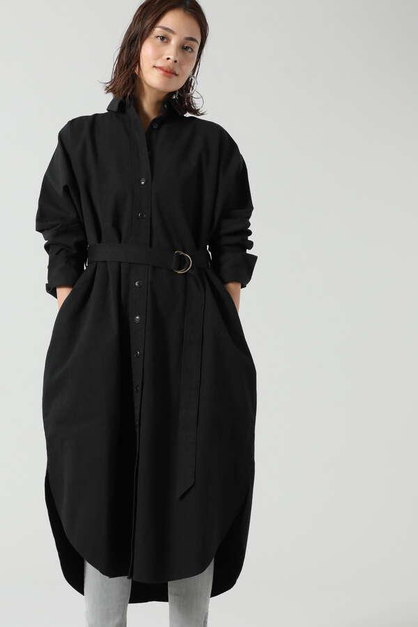 ロングテールシャツドレス