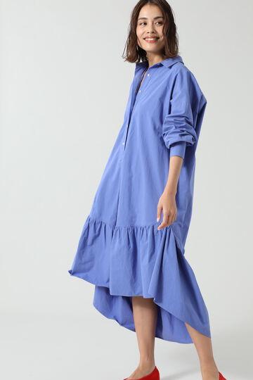 フリルシャツドレス