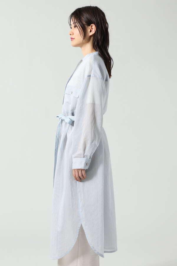 シアーシャツワンピース