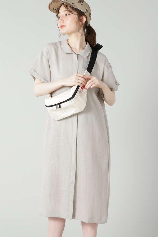 フロントオープンシャツワンピース