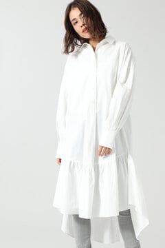 フレアロングテールシャツドレス