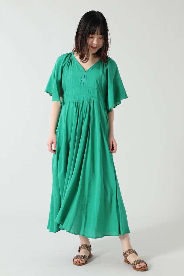 フレアスリーブサマードレス