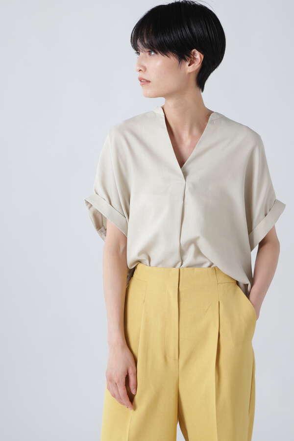 バックねじりスキッパーシャツ