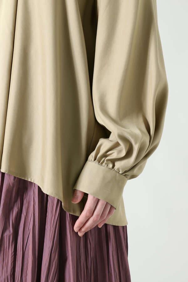 キュプラ混シャツ