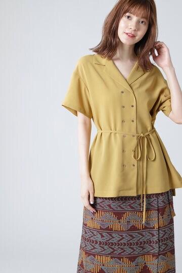 オープンカラーシャツブラウス