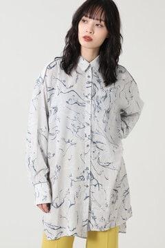 【先行予約 10月上旬-10月中旬入荷予定】プリントロングシャツ