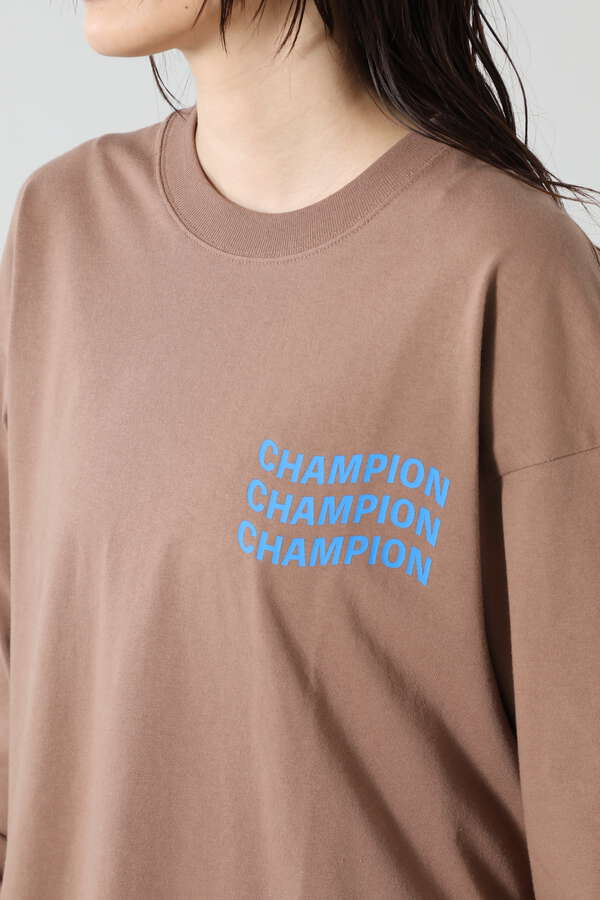 <ROSE BUD別注>ChampionロングスリーブTシャツ