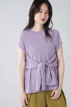【先行予約 7月下旬-8月上旬入荷予定】スリーブスリットロングTシャツ