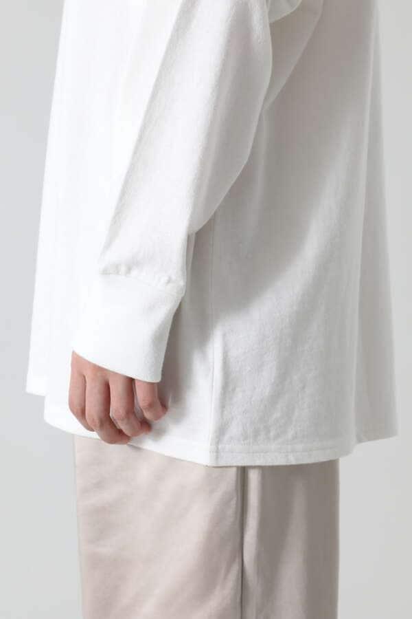 手描きプリントロングスリーブTシャツ