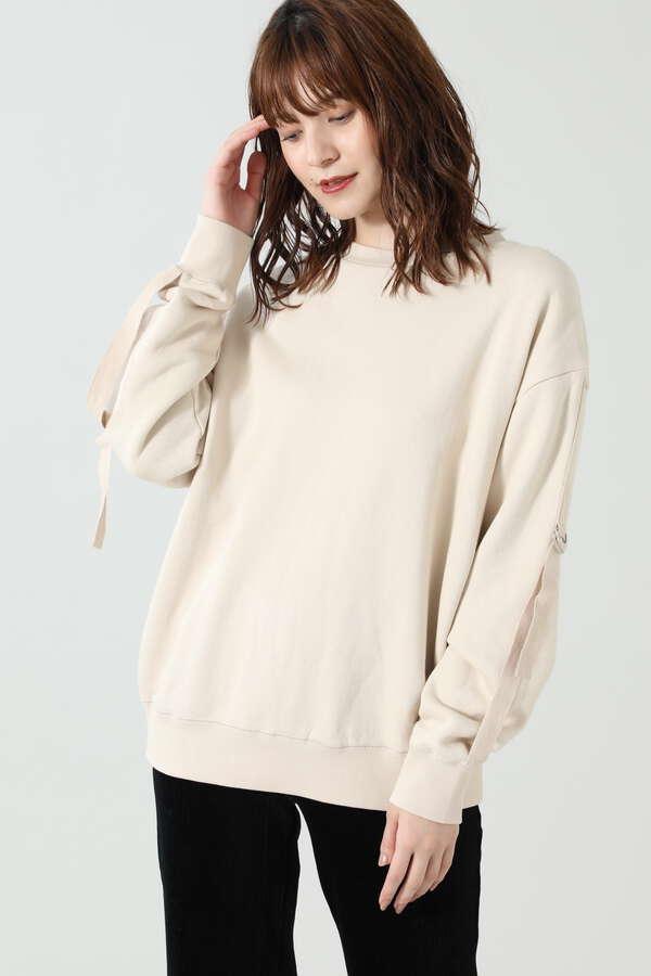 デザインスリーブ裏毛プルオーバー