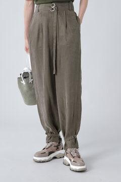 裾絞りディテールパンツ
