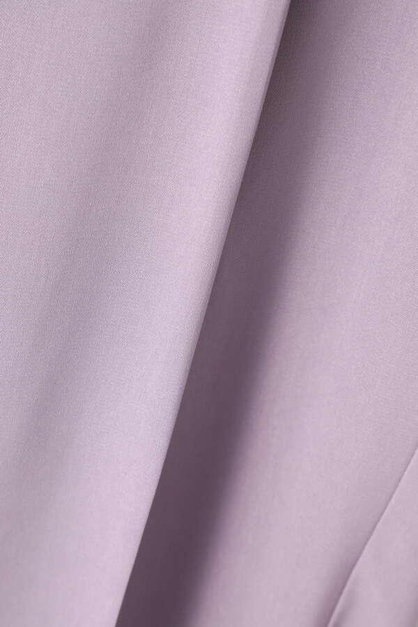 裾スリットパンツ