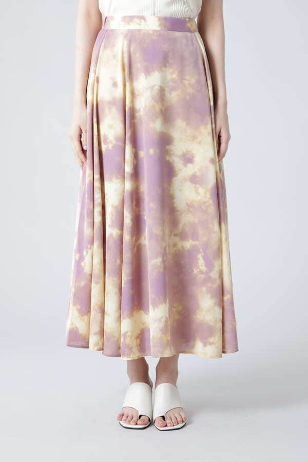マーブルプリントロングスカート