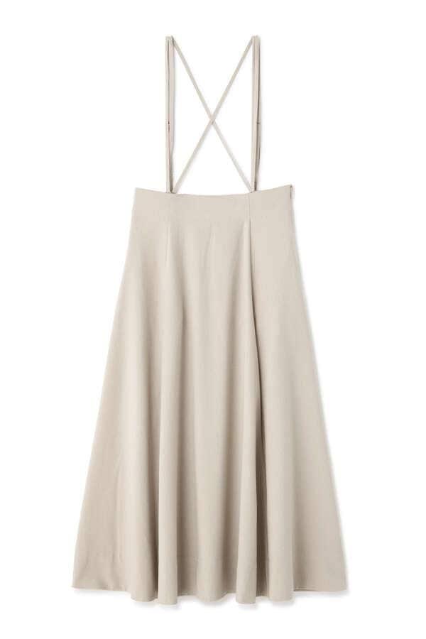 ストラップハイウエストスカート