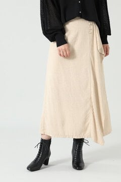 【先行予約 8月下旬-9月上旬入荷予定】フリルジャカードスカート
