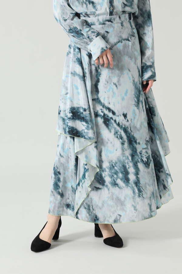 タイダイプリントロングスカート