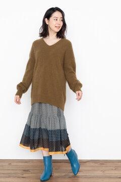 【先行予約 10月中旬-10月下旬入荷予定】<WEB限定>アーバンエスニックティアードスカート