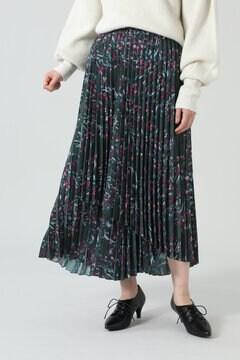 <WEB限定>フラワーモチーフアシメトリースカート